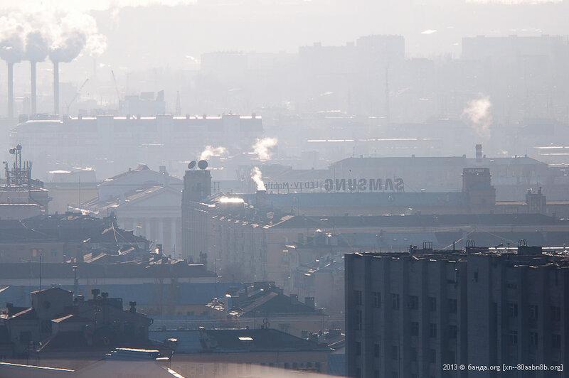 Город в дымке