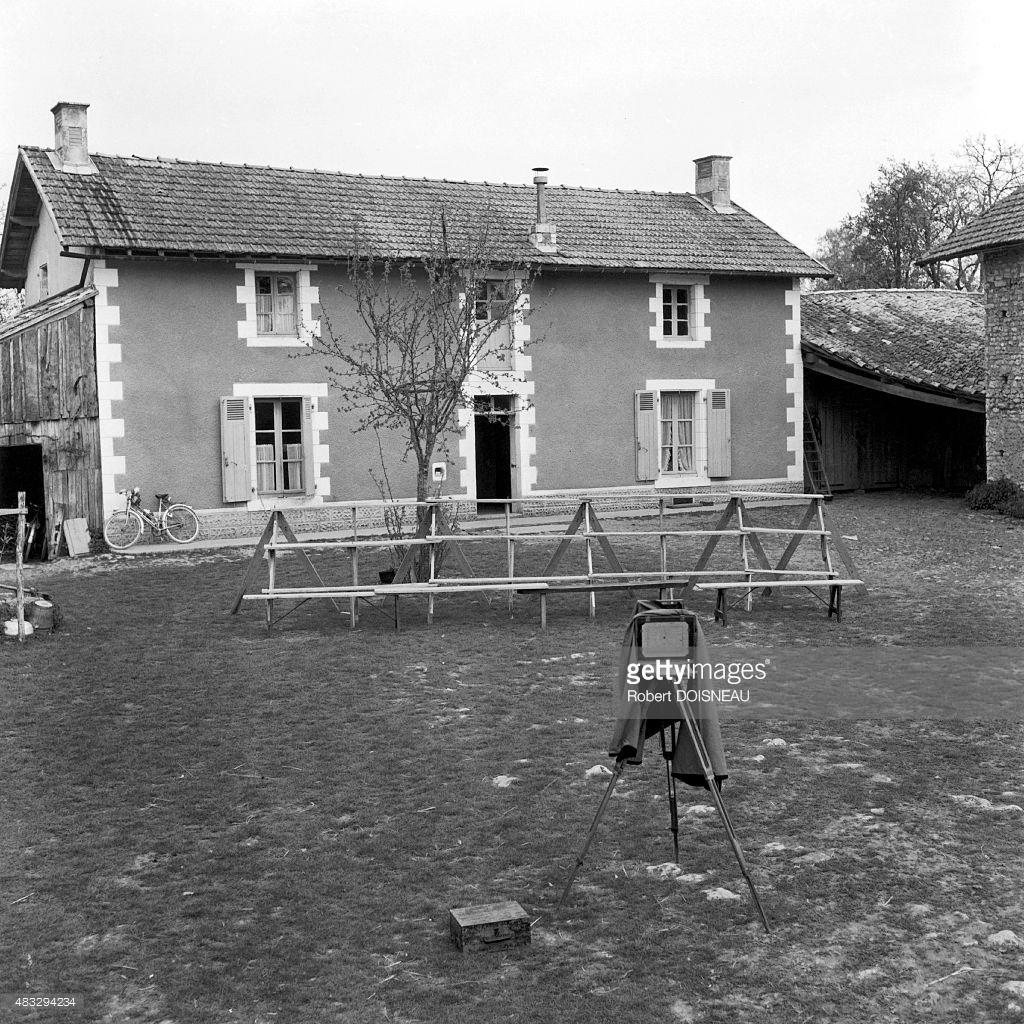 1956. Пустая свадебная фотография Мотильона Моро на ферме в Сен-Соване