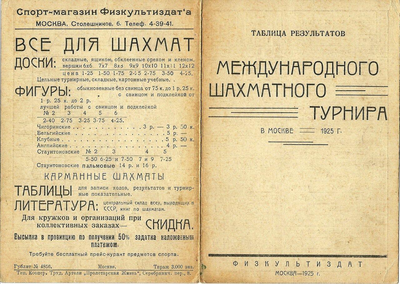 Шахматы (1925)