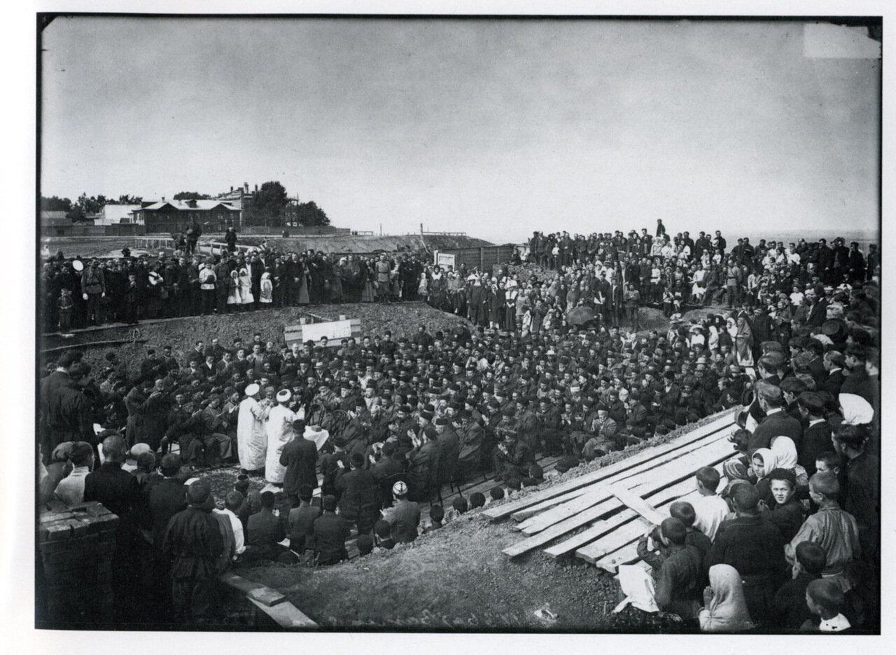 Закладка городской соборной мечети в Нижнем Новгороде. 1904.