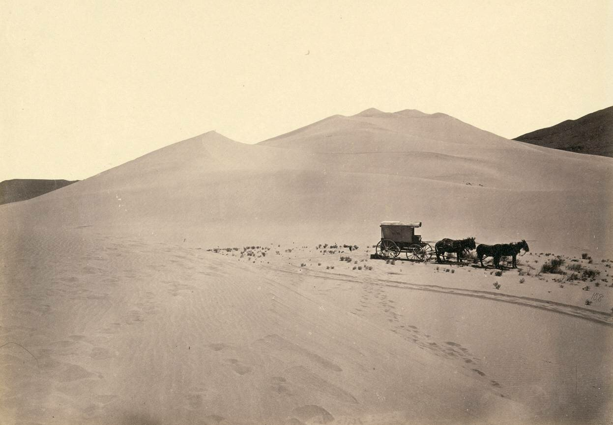 1867, Фургон переселенцев возле Карсона, пустыня Невада