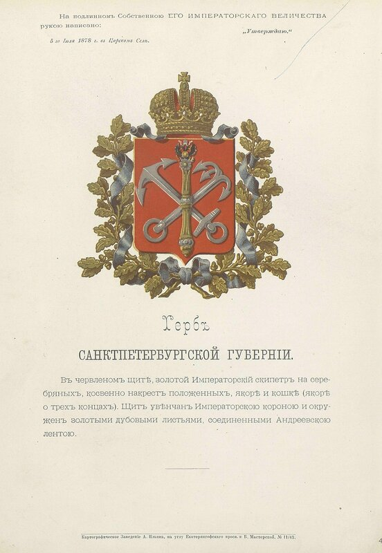 Санкт-Петербургская губерния 1880 год