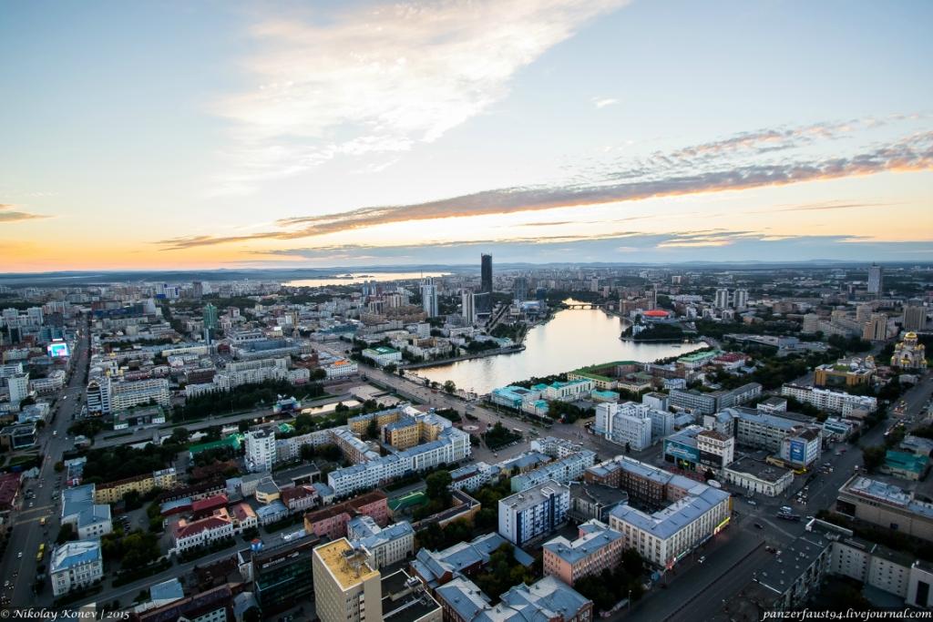 Екатеринбург с высоты. БЦ Высоцкий