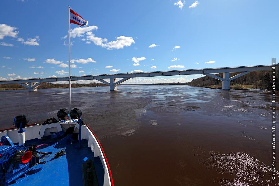 На фото автомобильный мост в районе деревни Буйский Перевоз