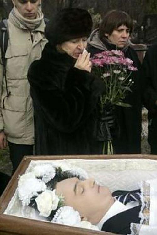 Похороны Сергея Магнитского. Жена Наталья Жарикова.