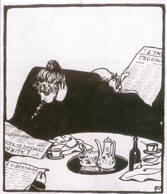 Валлотон. Семья. 1899 г.En famille
