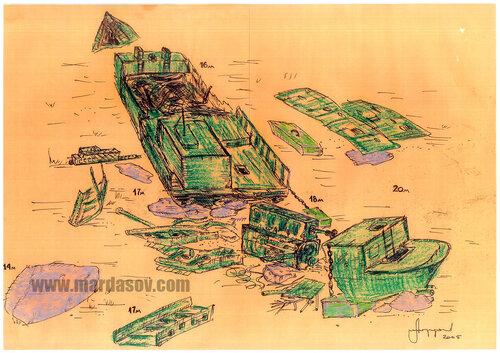 Wreck на 35й береговой батарее (22м)