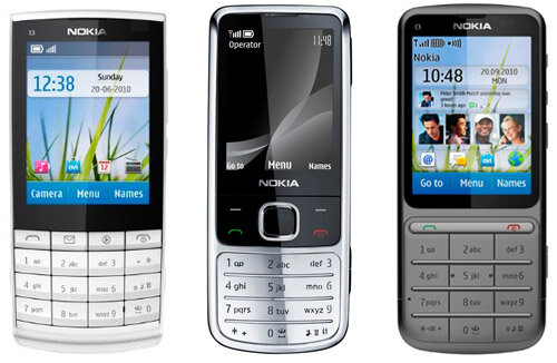 Nokia X3+6700+C3 для helpix.ru