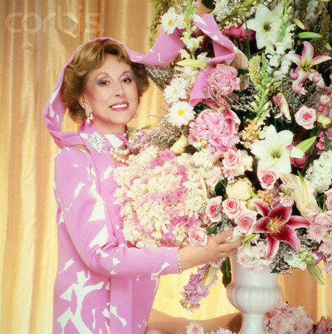 Estee Lauder with Pink Flowers