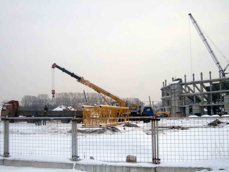 Строительство стадиона «Спартак» январь 2013 (Фото)
