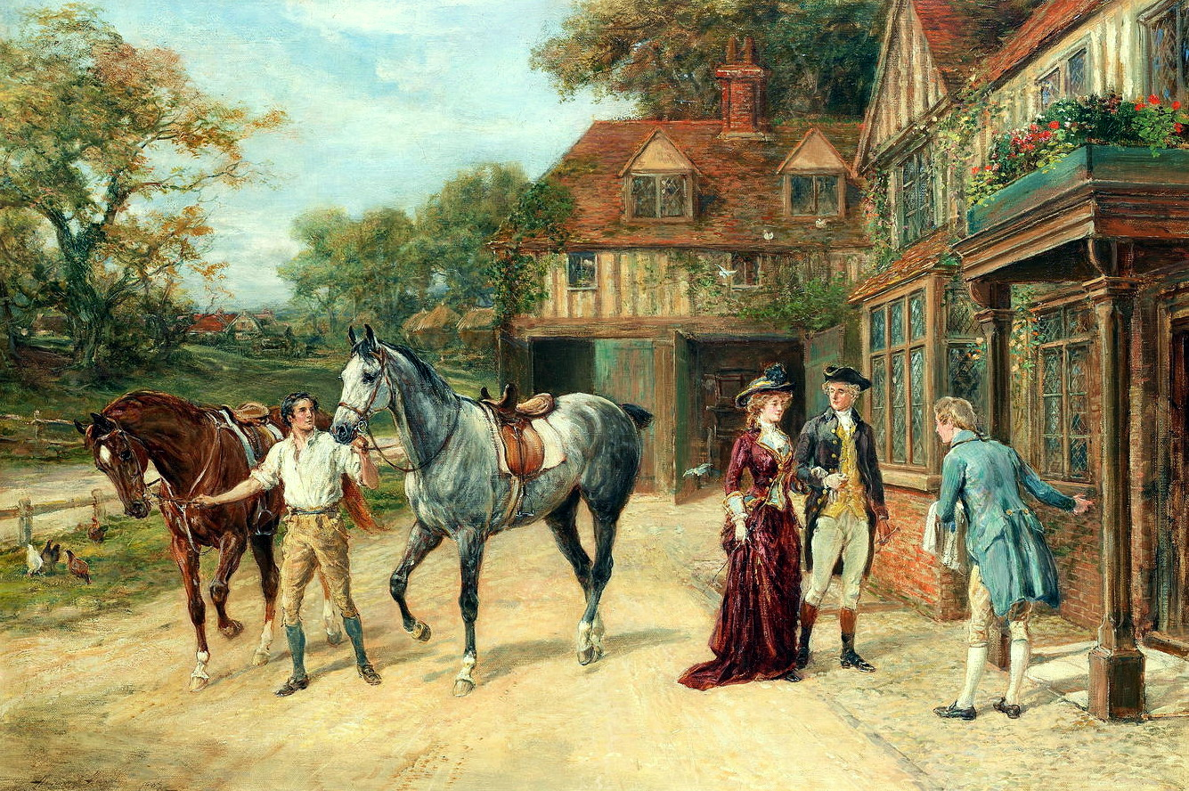 Heywood Hardy (British, 1842-1933) - After the morning gallop