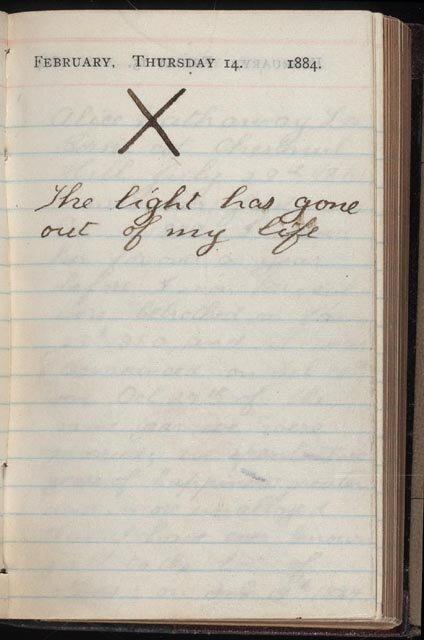 Страница из дневника Теодора Рузвельта