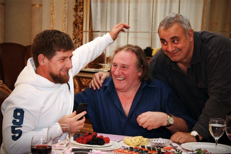 Депардье в Чечне.