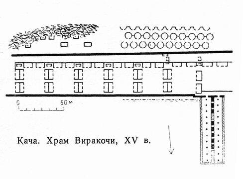Храм Виракочи в Каче, план