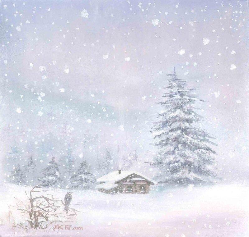 Снег пушистый серебристый,  Засыпает всё вокруг Гульшат Гильманова. Снег идет