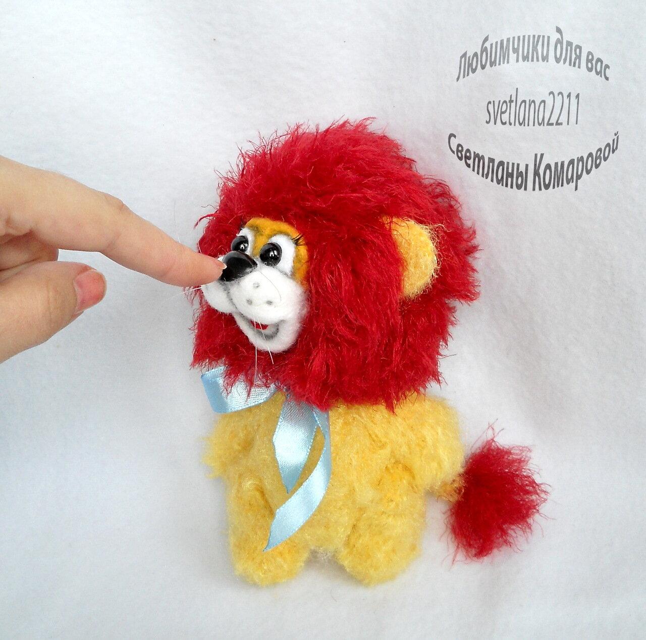 Лев связать крючком схема описание