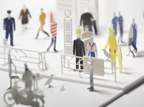 Бумажный мегаполис от Naoki Terada.