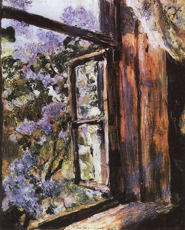 Валентин Серов. Открытое окно. Сирень, 1886. Этюд.