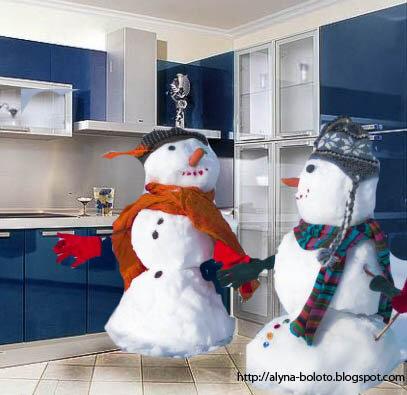 Снеговики на кухне