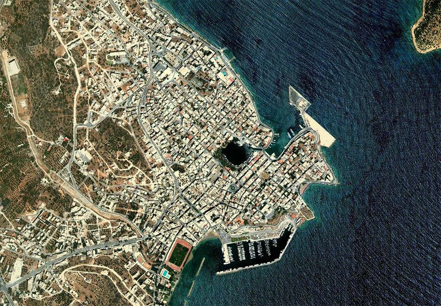 Агиос Николаос, вид сверху | Agios Nikolaos from above