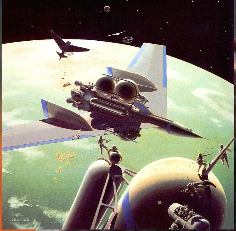 Чесли Боунстелл. Американский художник. QMan_CB_TAOCB_2148_Assembling_the_Mars_Ships.jpg