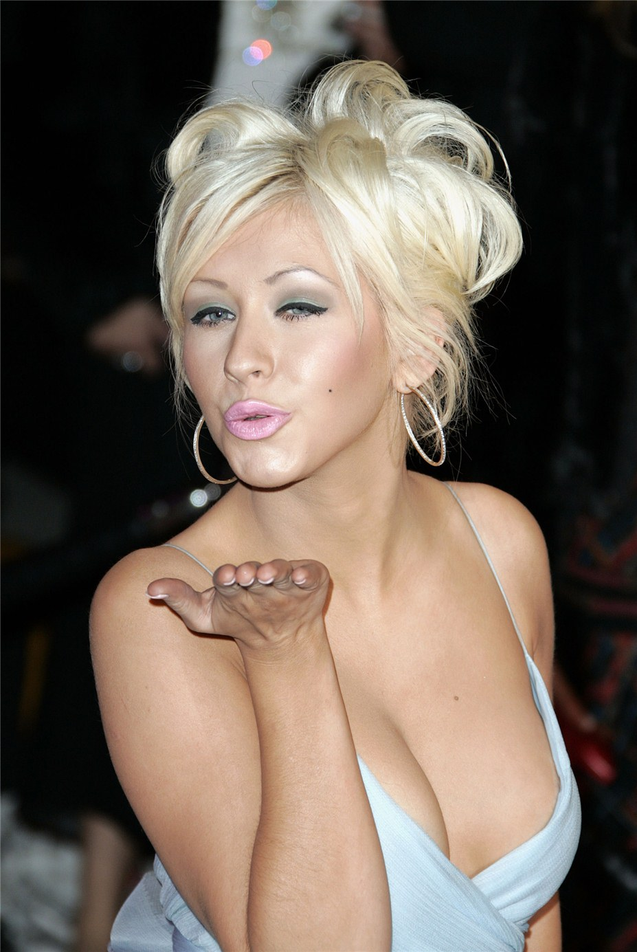 поцелуй звезды / воздушный поцелуй от Кристина Агилера / Christina Aguilera