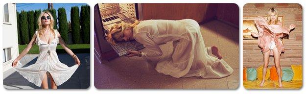 Ashley Smith / Эшли Смит в молодежной одежде модного бренда For Love and Lemons, весна 2013 / фотограф Zoey Grossman