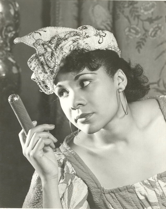 Katherine Dunham in an undated photograph as Woman with a Cigar from Tropics.