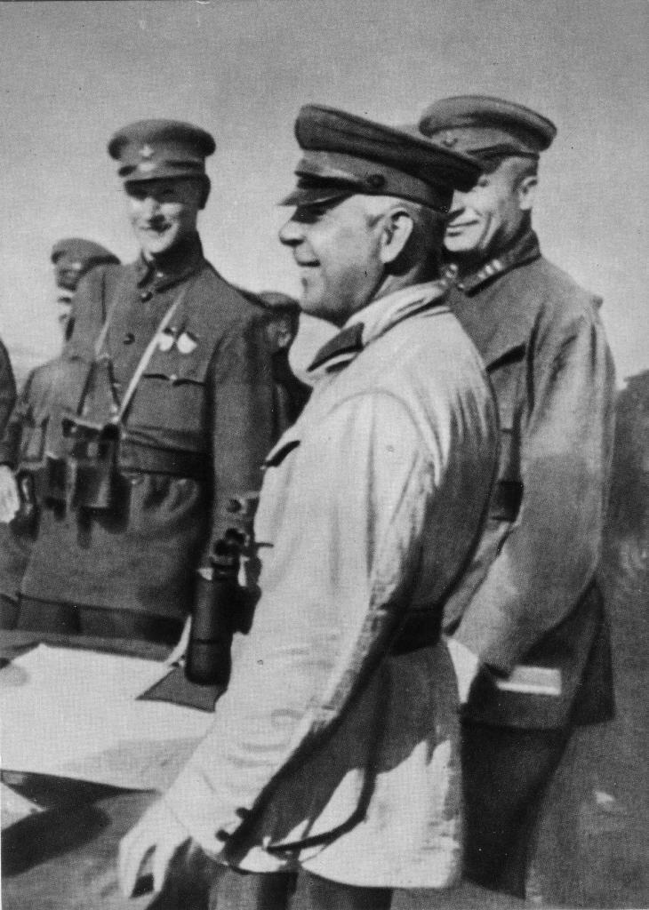 На маневрах войск Приволжского военного округа. 1934 г.