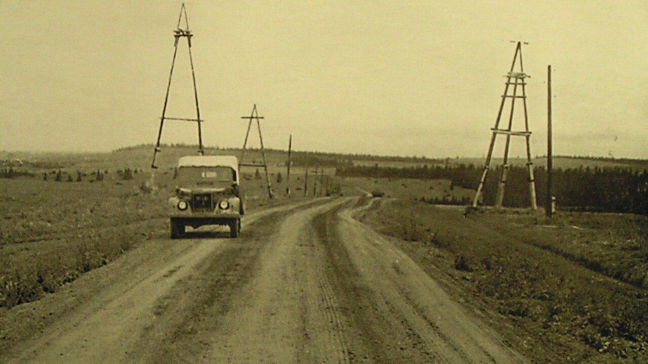 Трасса у деревни Кулябино.