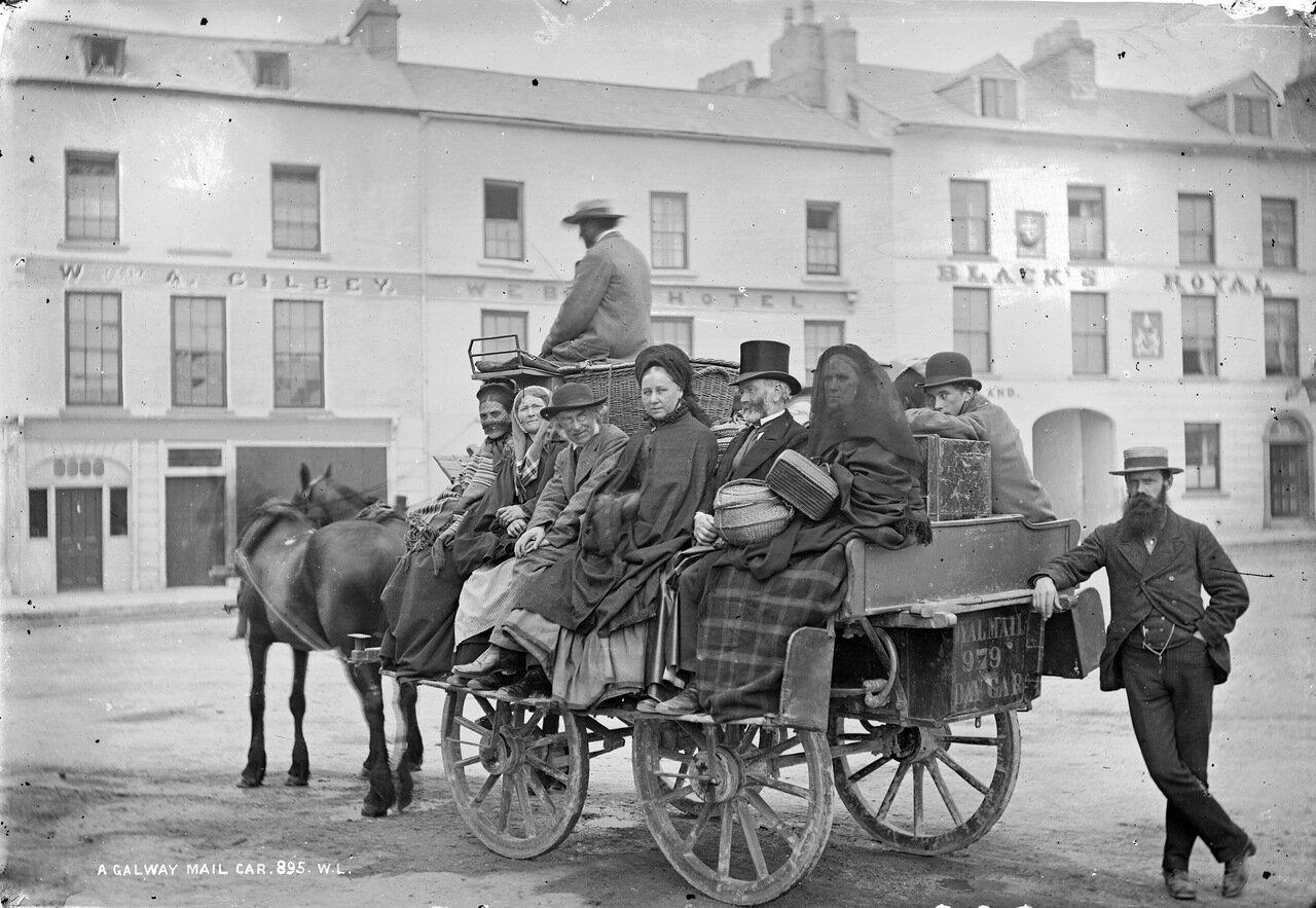 Площадь Эйр в городе Голуэй. 1880
