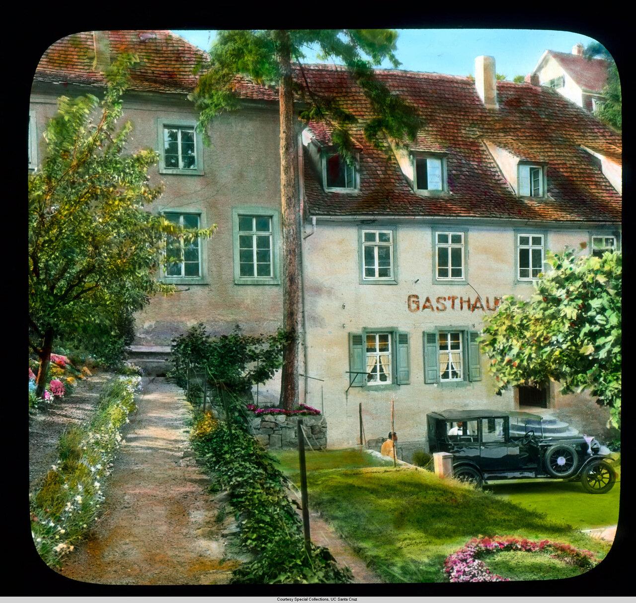 Гейдельберг. Отель Hirschgasse. Пивная, описанная Марком Твеном в книге Бродяга за границей
