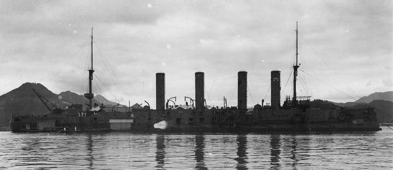 Японский крейсер Асо в Майдзуру, август 1905 года