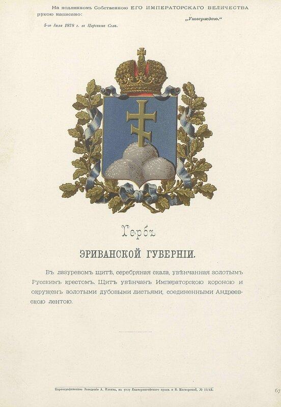 Эриванская губерния 1880 год