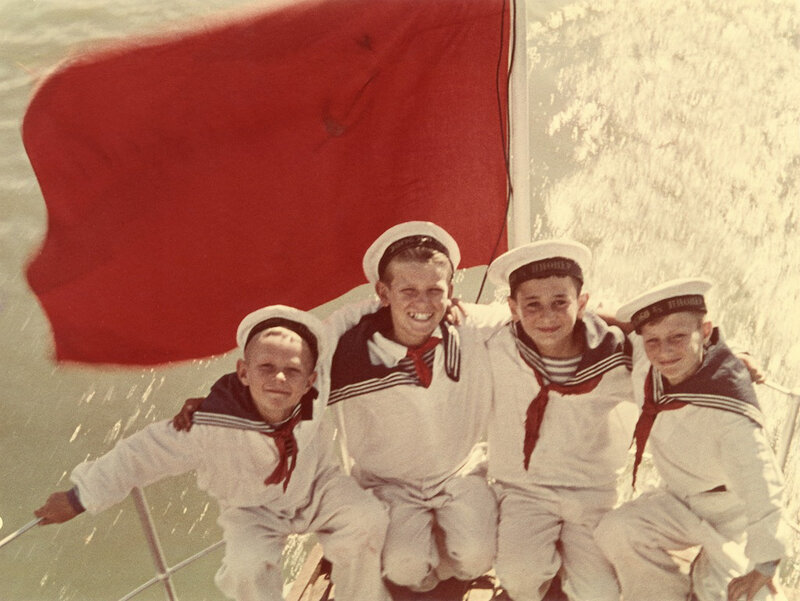 Yakov Khalip Sea cadets. End of 1940s