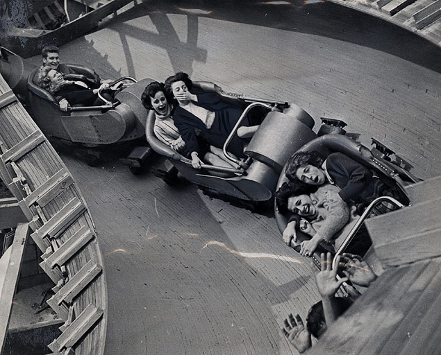 With the park now open, riders enjoy the popular bobsled attraction.jpg