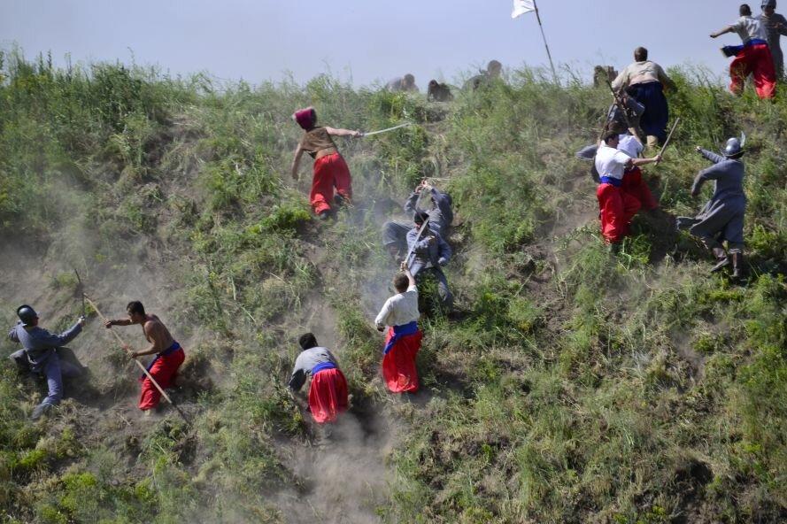Запорожские казаки прошли «9 порогов»: сдвигали воз весом в 2 тонны и метали камни (ФОТОРЕПОРТАЖ), фото-10