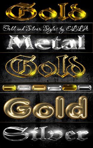 Золотые и серебряные стили для фотошоп 0_c9e1e_2aeb5e97_L