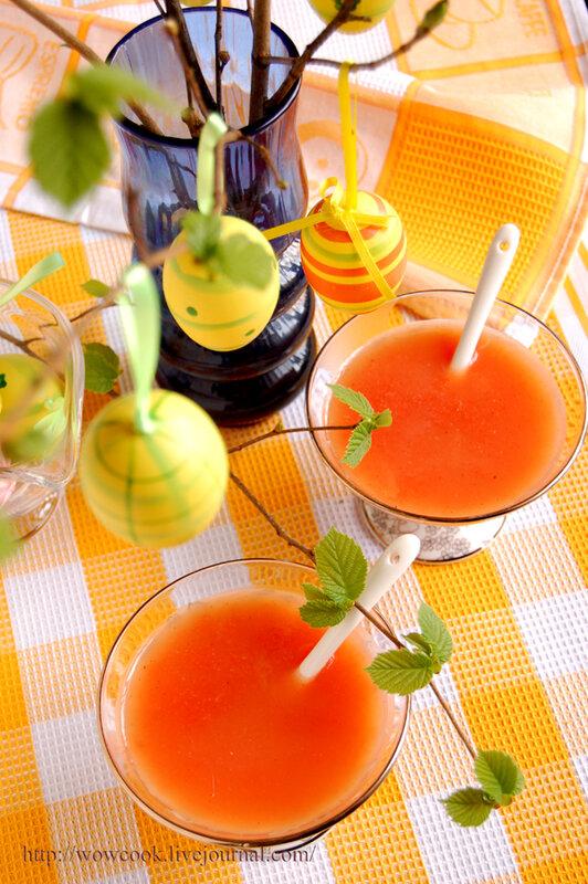 Грейпфрутовый кисель