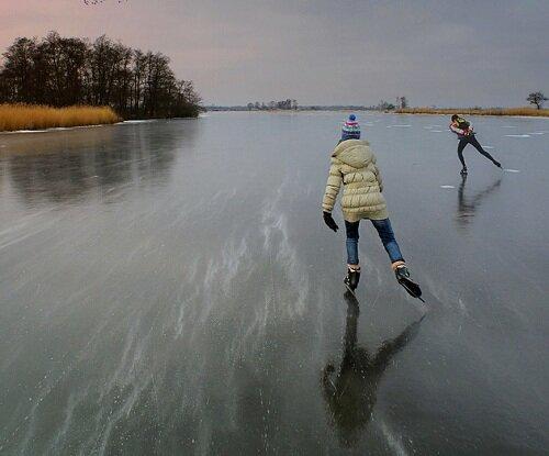 Огромный катки в Нидерландах