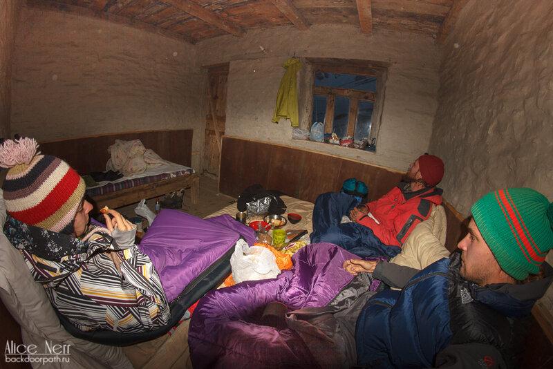 комната в high camp, трек вокруг аннапурны