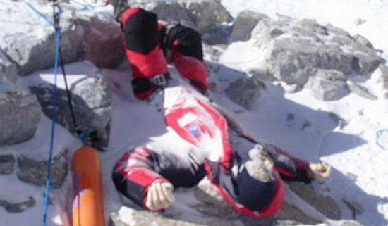 Кладбище трупов на Эвересте.