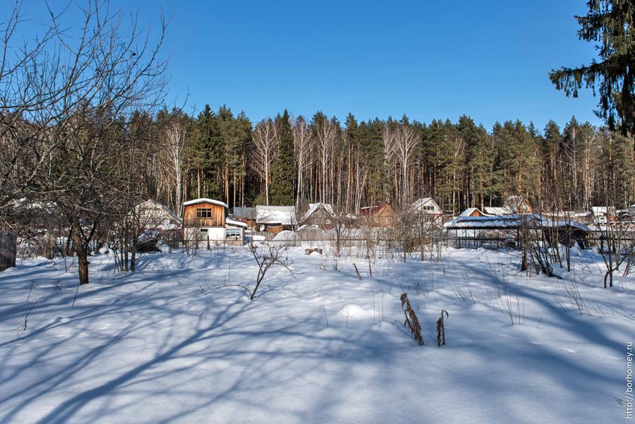 огороды зимой