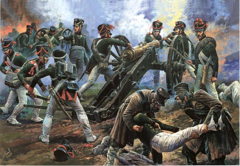 Бородино. Русские артиллеристы на Утицком кургане