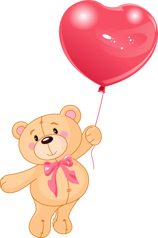 Картинка медвежонка с шариками