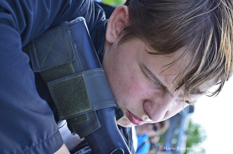 Лазерный тир в парке Победы, Саратов, 09 мая 2013 года