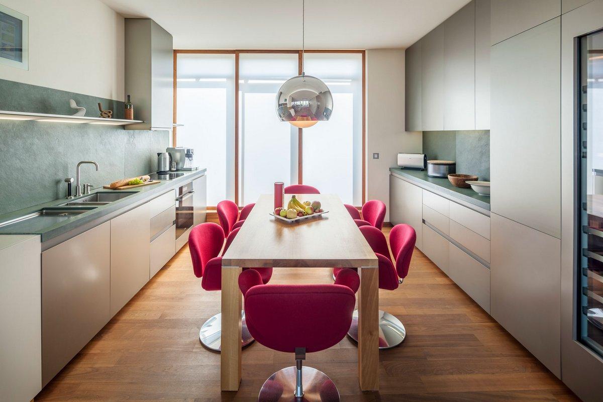 дизайн квартиры, пентхаус в Берлине, квартира с террасой, система умный дом, пентхаус с террасой, кухня Miele, пентхаус на берегу реки