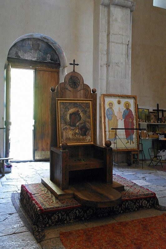 Кафедра епископа в церкви Баракони