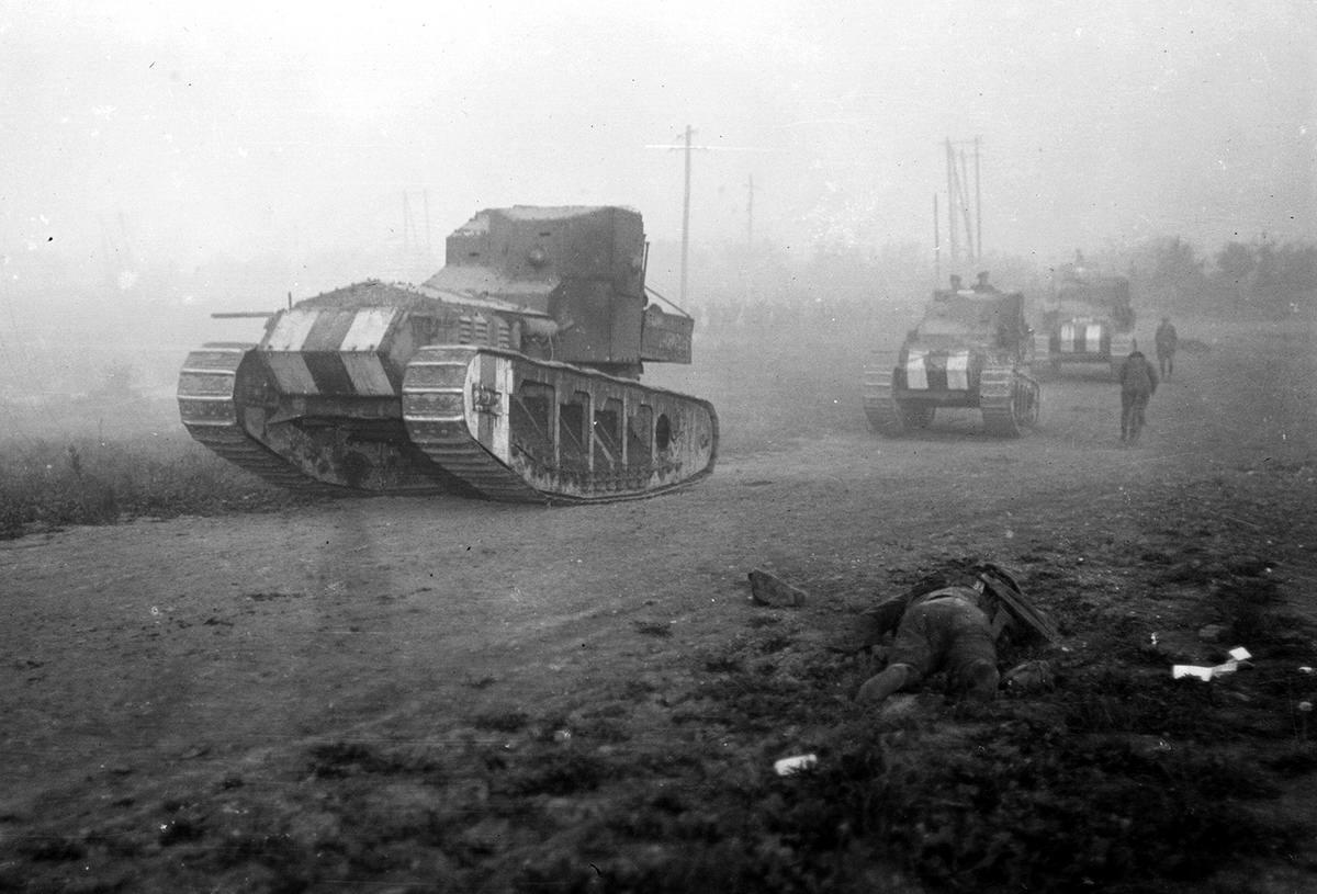 Британские средние танки Mark A Whippet на территории Франции (август 1918 года) (11)
