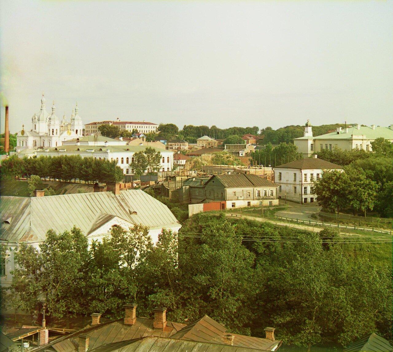 Витебск. Общий вид восточной части с колокольни кафедрального собора. 1912.